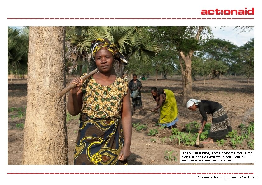 Thabu Chidimba, a smallholder farmer, in the fields she shares with other local women.
