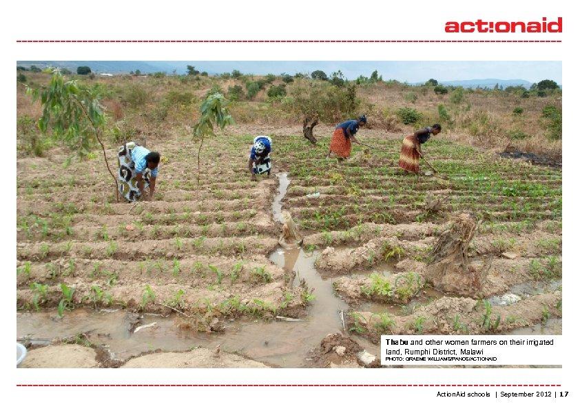 Thabu and other women farmers on their irrigated land, Rumphi District, Malawi PHOTO: GRAEME