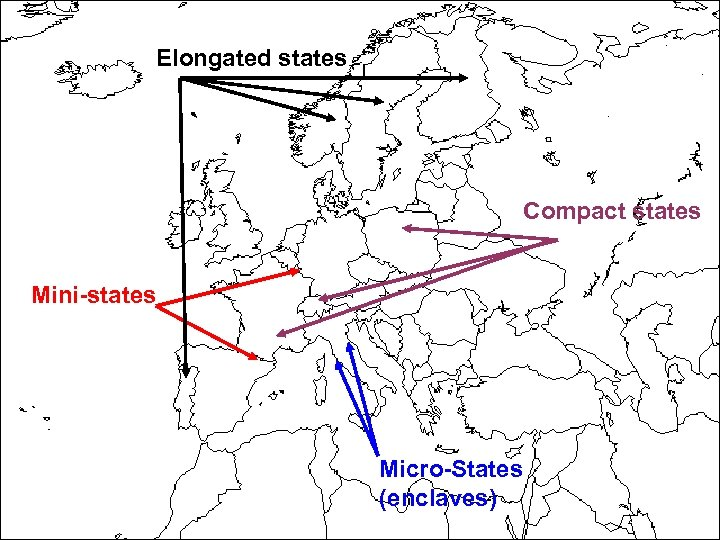 Elongated states Compact states Mini-states Micro-States (enclaves) 13