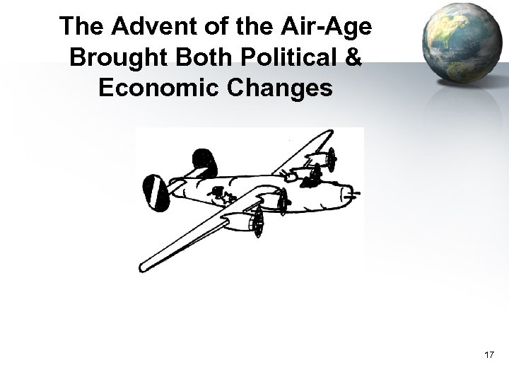 The Advent of the Air-Age Brought Both Political & Economic Changes 17