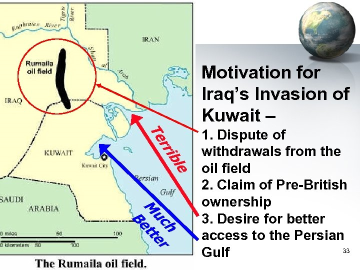 Motivation for Iraq's Invasion of Kuwait – le b rri Te h uc er