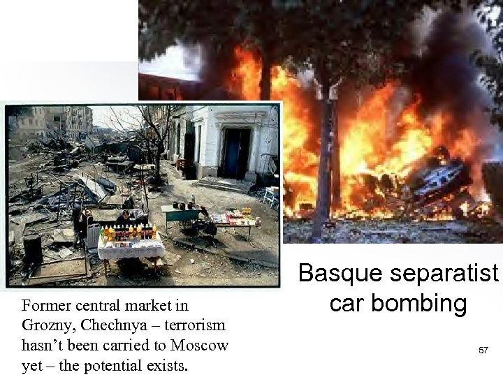 Former central market in Grozny, Chechnya – terrorism hasn't been carried to Moscow yet