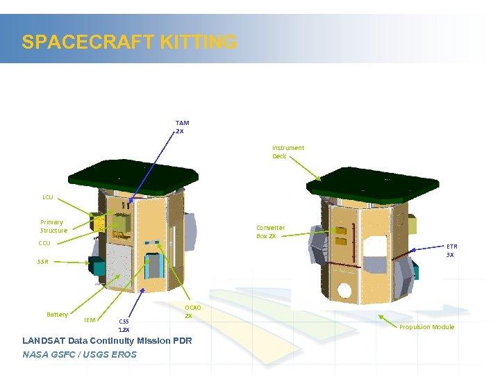 SPACECRAFT KITTING TAM 2 X Instrument Deck LCU Primary Structure Converter Box 2 X