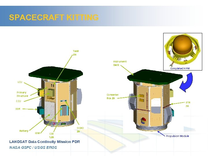 SPACECRAFT KITTING TAM 2 X Instrument Deck Completed HPM LCU Primary Structure Converter Box