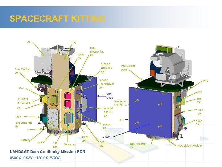 SPACECRAFT KITTING OLI TIRS TAM 2 X TIRS Electronics 2 X S-band Antenna 4