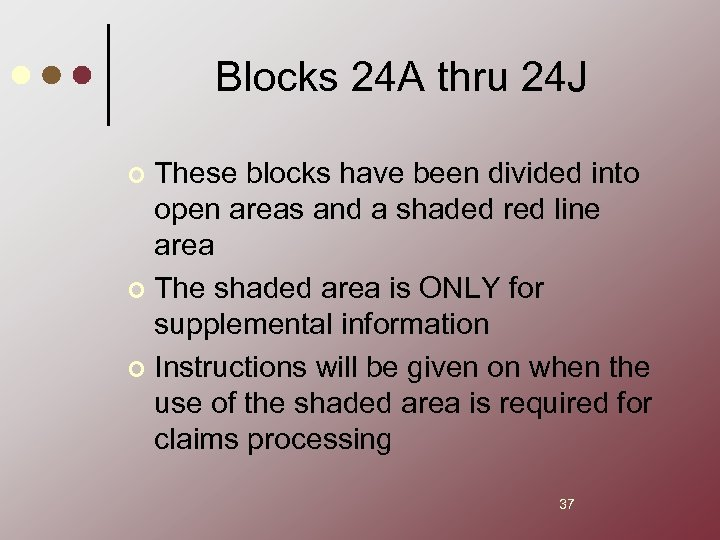 Blocks 24 A thru 24 J These blocks have been divided into open areas
