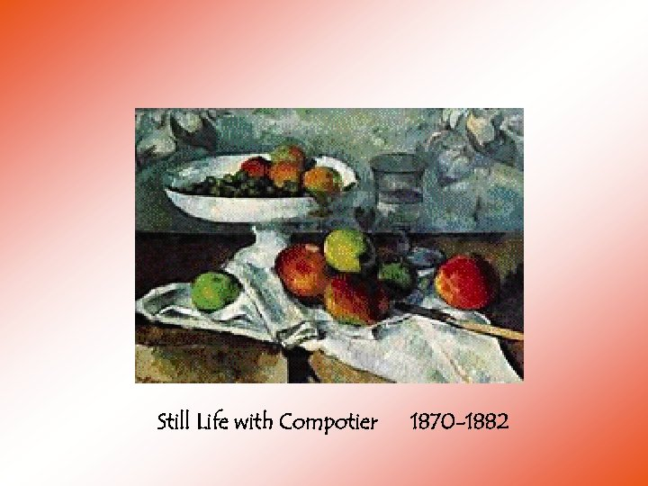 Still Life with Compotier 1870 -1882