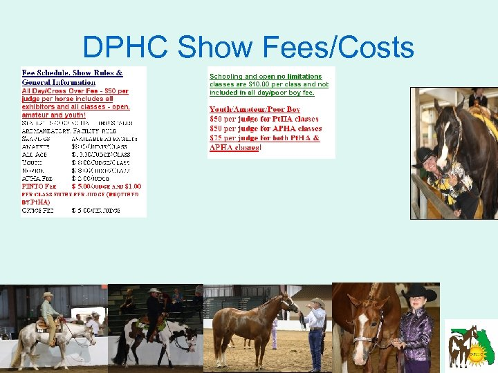 DPHC Show Fees/Costs