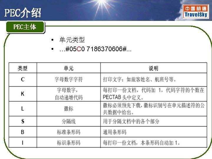 PEC介绍 PEC主体 • 单元类型 • …#05 C 0 7186370606#. . .