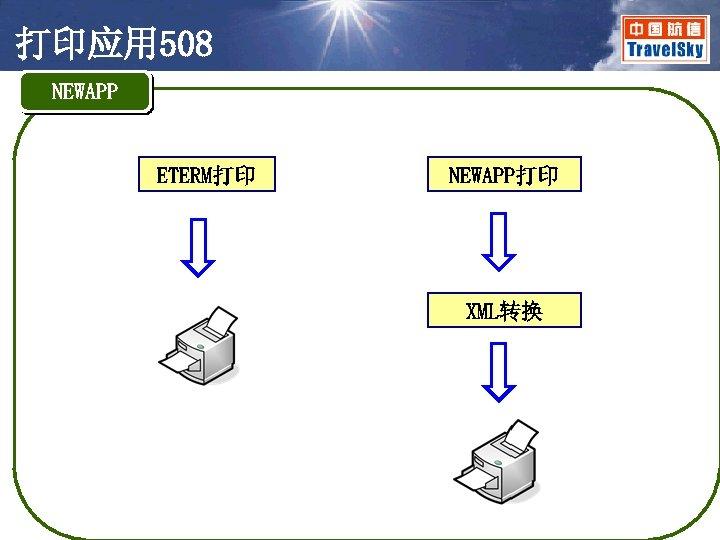打印应用 508 NEWAPP ETERM打印 NEWAPP打印 XML转换