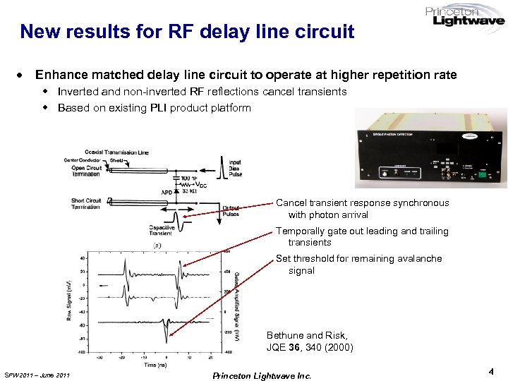 New results for RF delay line circuit · Enhance matched delay line circuit to