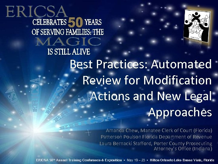 Best Practices: Automated Review for Modification Actions and New Legal Approaches Amanda Chew, Manatee