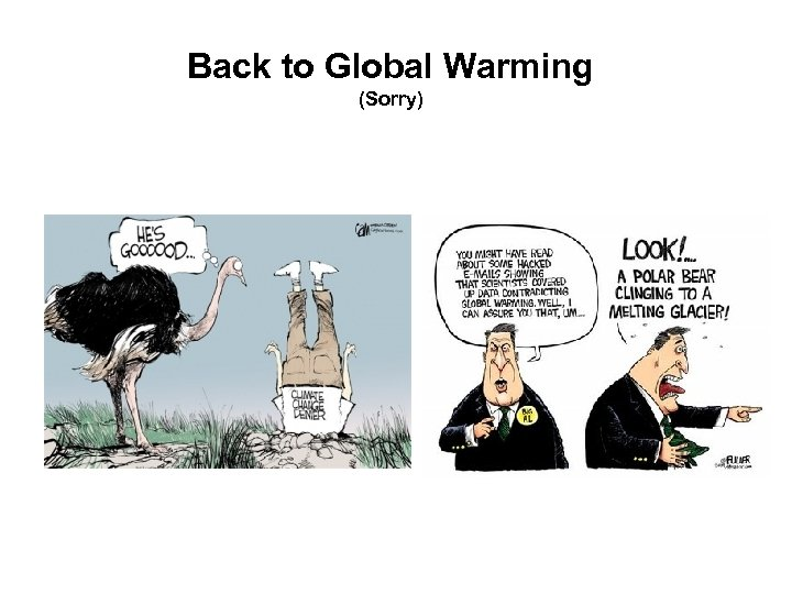 Back to Global Warming (Sorry)