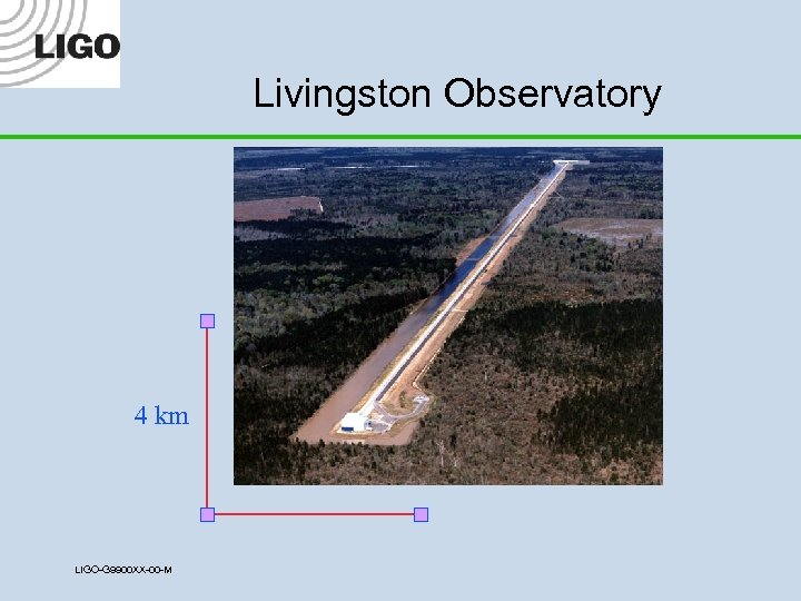 Livingston Observatory 4 km LIGO-G 9900 XX-00 -M