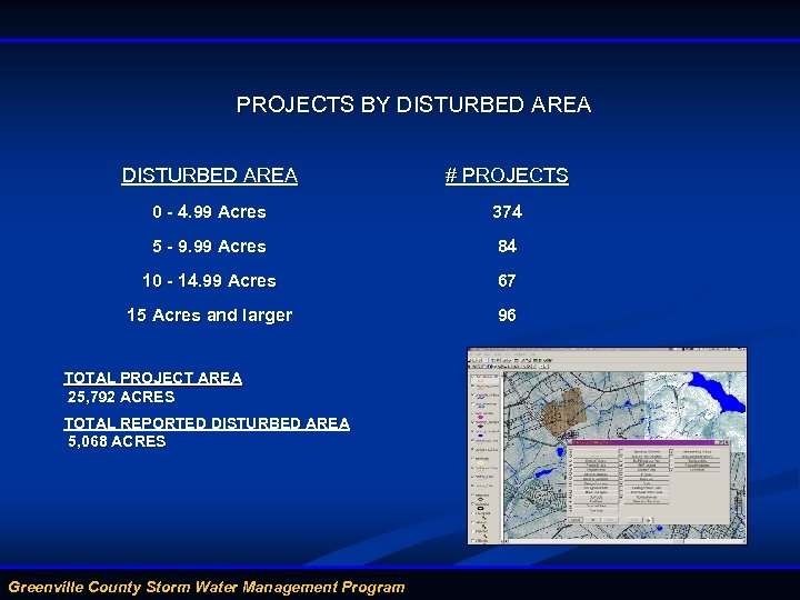 PROJECTS BY DISTURBED AREA # PROJECTS 0 - 4. 99 Acres 374 5 -