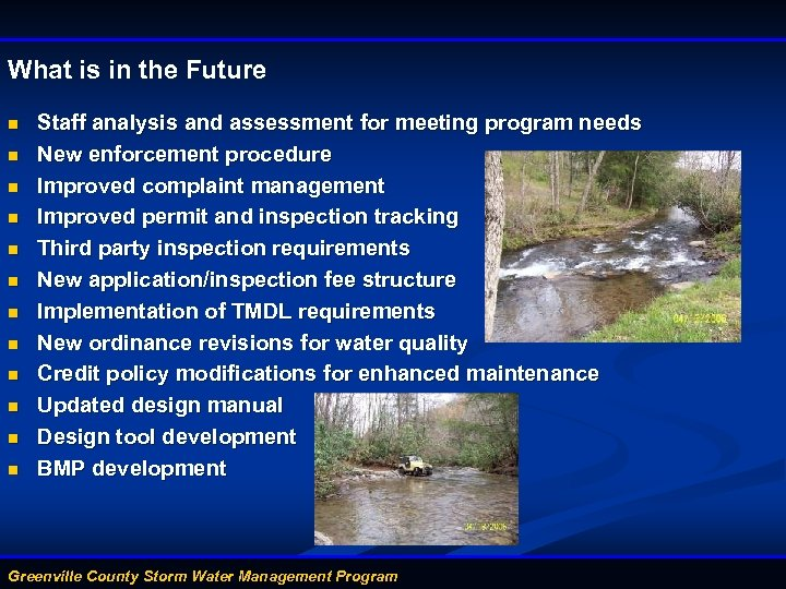 What is in the Future n n n Staff analysis and assessment for meeting