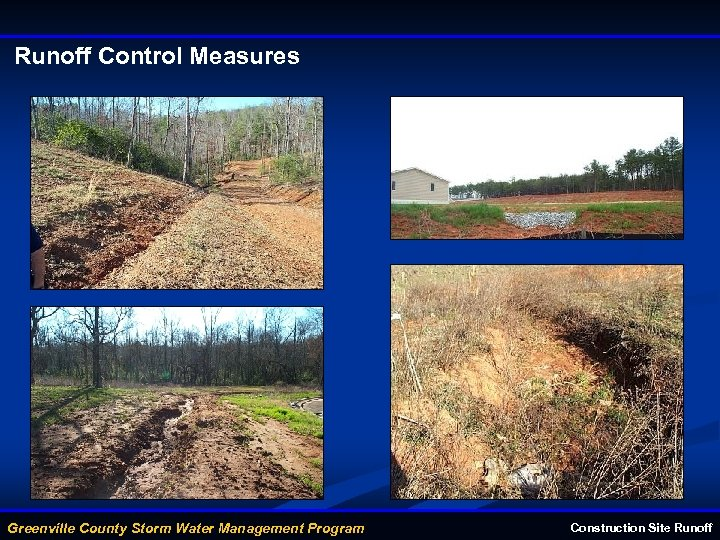 Runoff Control Measures Greenville County Storm Water Management Program Construction Site Runoff