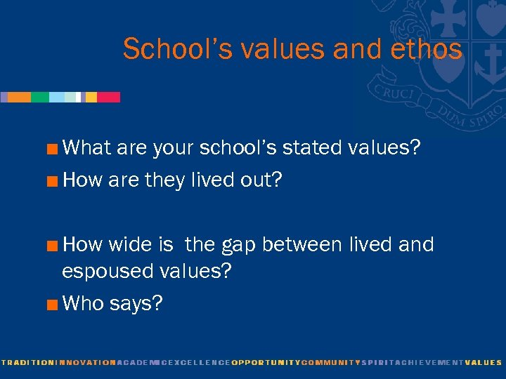 School's values and ethos < What are your school's stated values? < How are