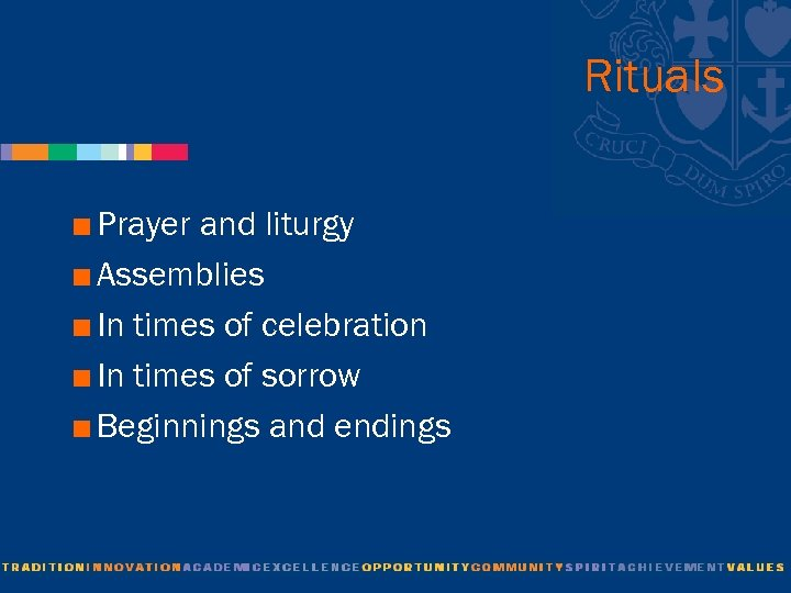 Rituals < Prayer and liturgy < Assemblies < In times of celebration < In