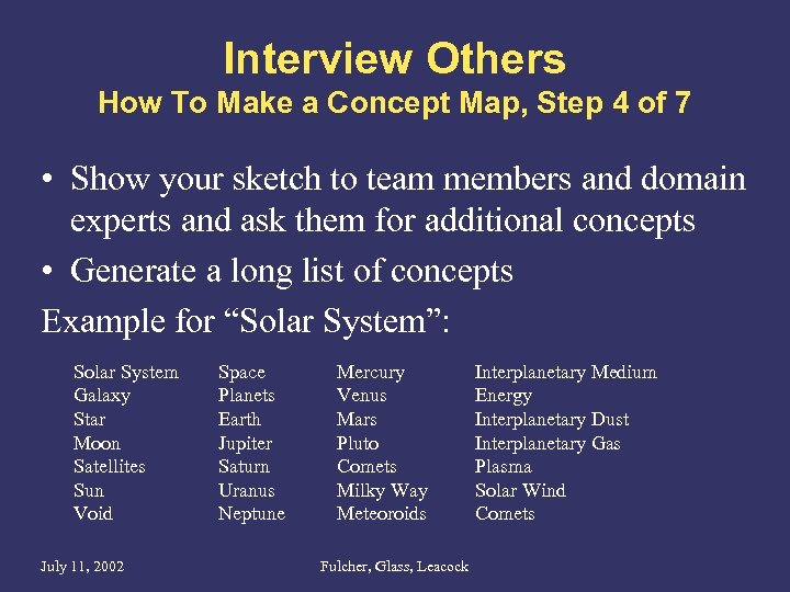 Interview Others How To Make a Concept Map, Step 4 of 7 • Show