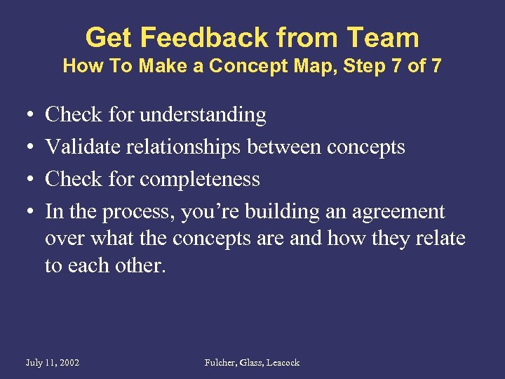 Get Feedback from Team How To Make a Concept Map, Step 7 of 7