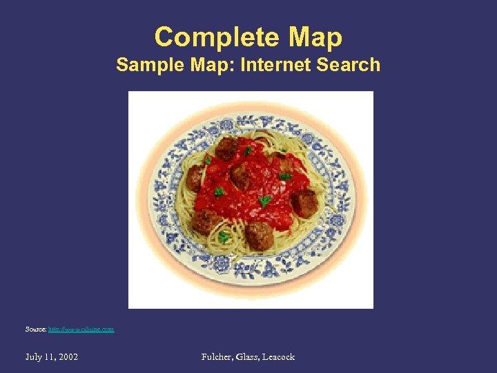 Complete Map Sample Map: Internet Search Source: http: //www. oilzine. com July 11, 2002