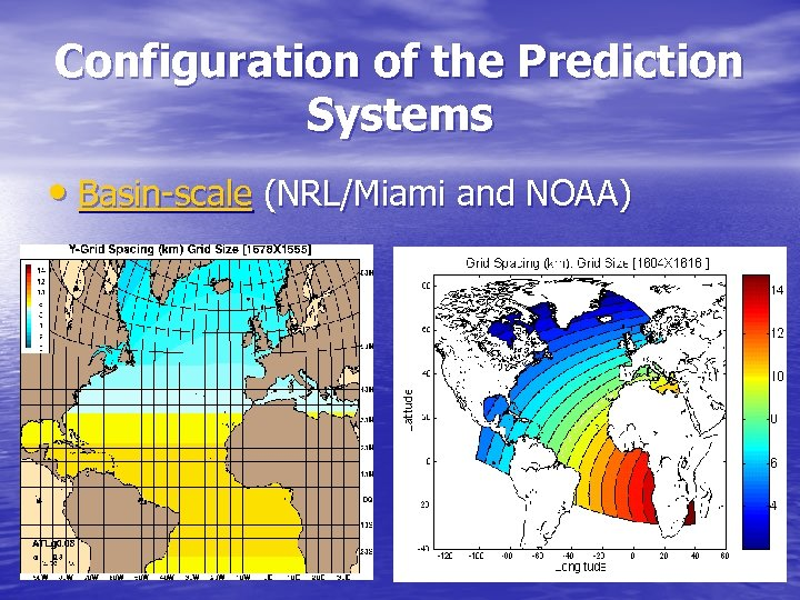 Configuration of the Prediction Systems • Basin-scale (NRL/Miami and NOAA)