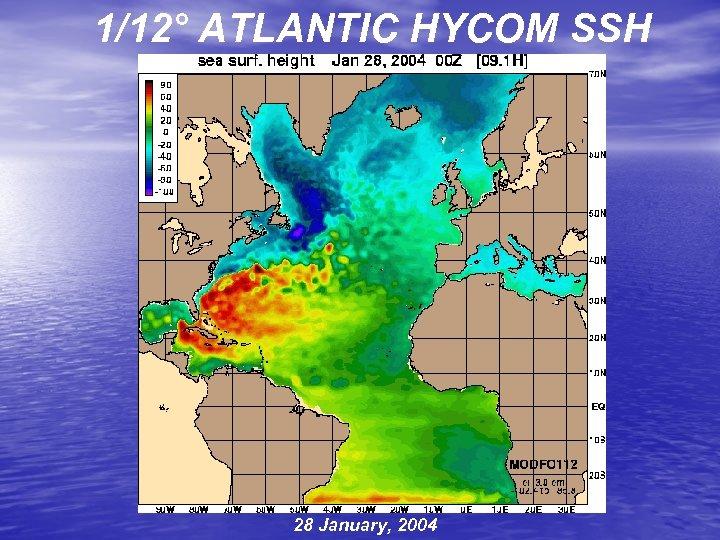 1/12° ATLANTIC HYCOM SSH 28 January, 2004