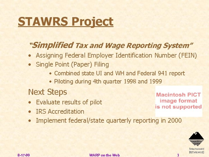 """STAWRS Project """"Simplified Tax and Wage Reporting System"""" • Assigning Federal Employer Identification Number"""