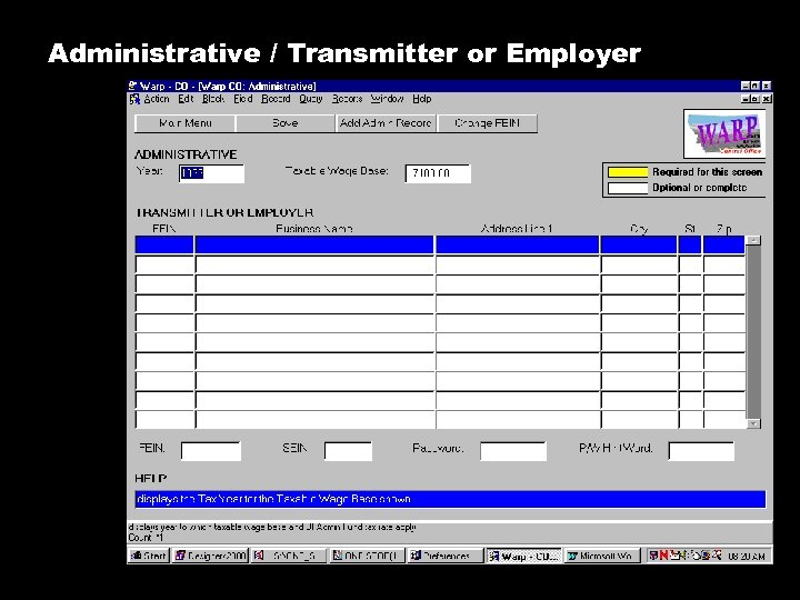Administrative / Transmitter or Employer