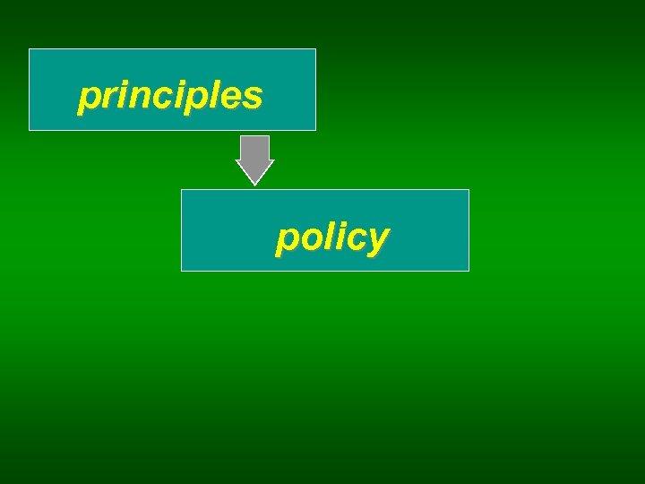 principles policy