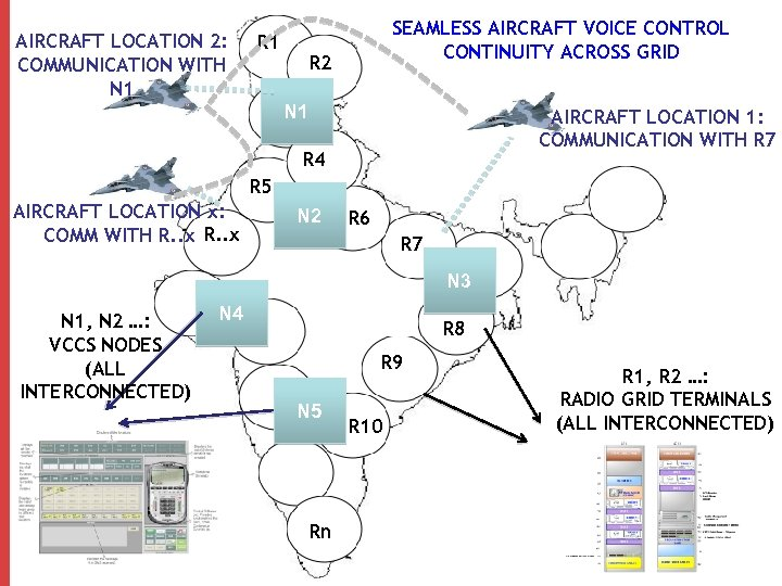 AIRCRAFT LOCATION 2: COMMUNICATION WITH N 1 R 1 SEAMLESS AIRCRAFT VOICE CONTROL CONTINUITY