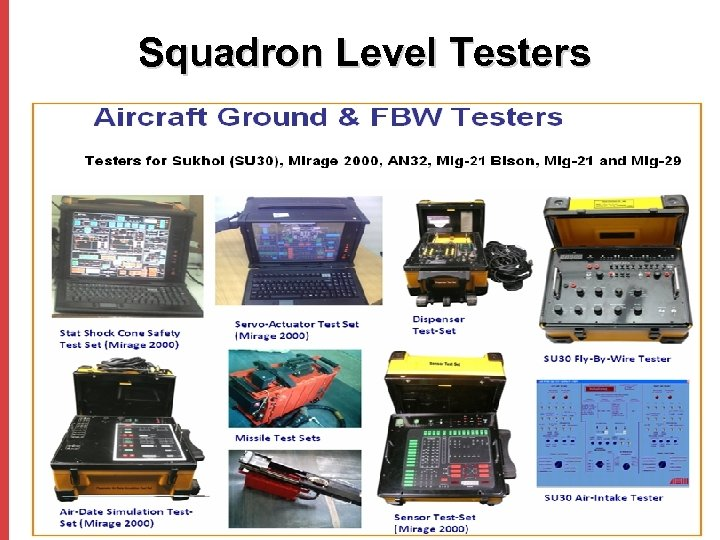 Squadron Level Testers