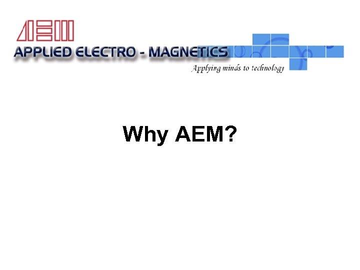 LCA Actuator Test Rig Why AEM?