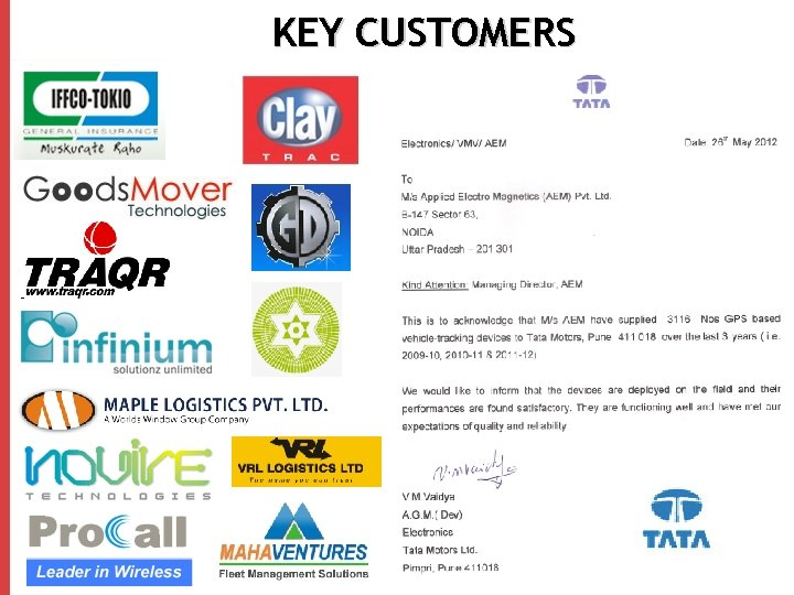 KEY CUSTOMERS