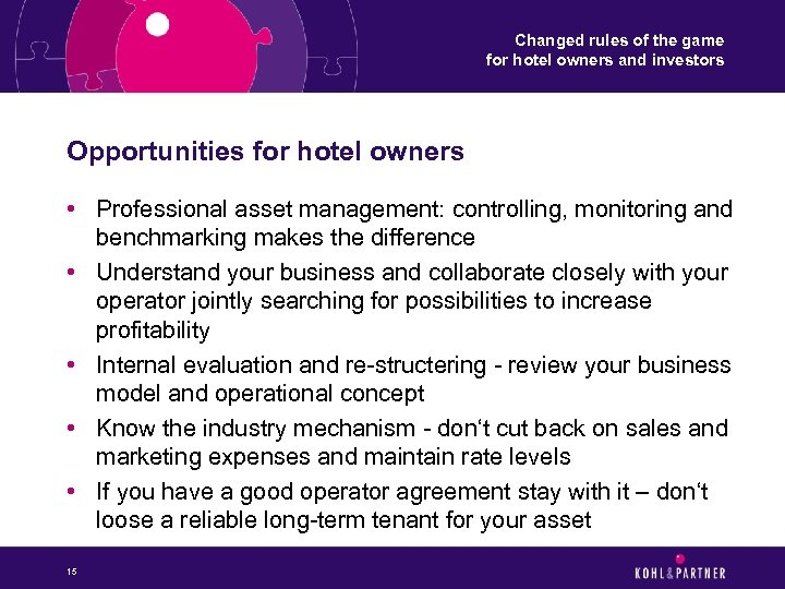 Changed rules of the game for hotel owners and investors Opportunities for hotel owners