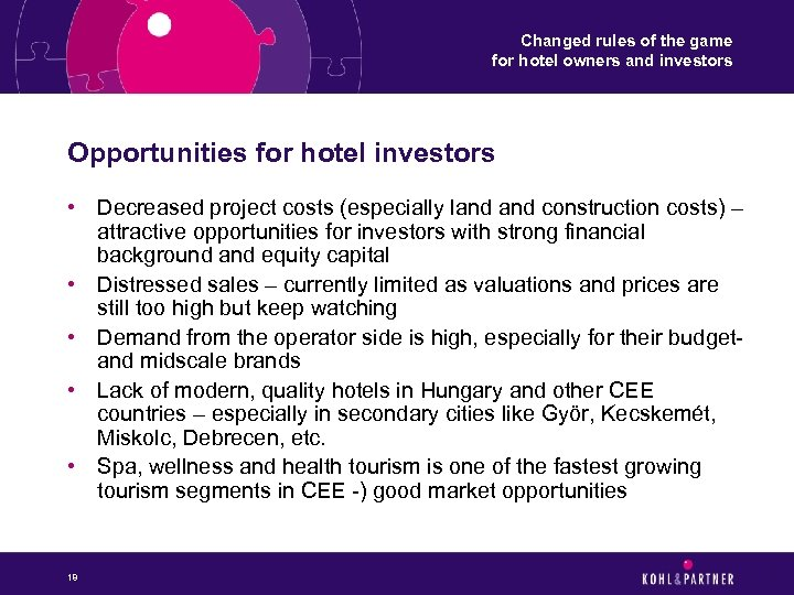 Changed rules of the game for hotel owners and investors Opportunities for hotel investors