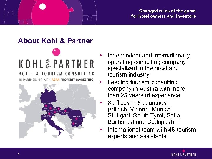 Changed rules of the game for hotel owners and investors About Kohl & Partner