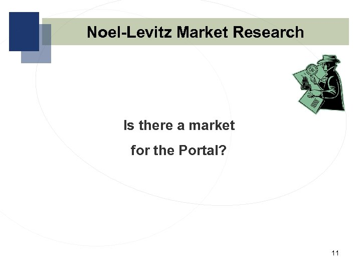 Noel-Levitz Market Research Is there a market for the Portal? 11