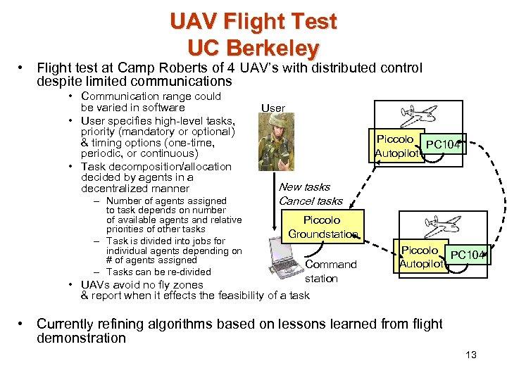 UAV Flight Test UC Berkeley • Flight test at Camp Roberts of 4 UAV's