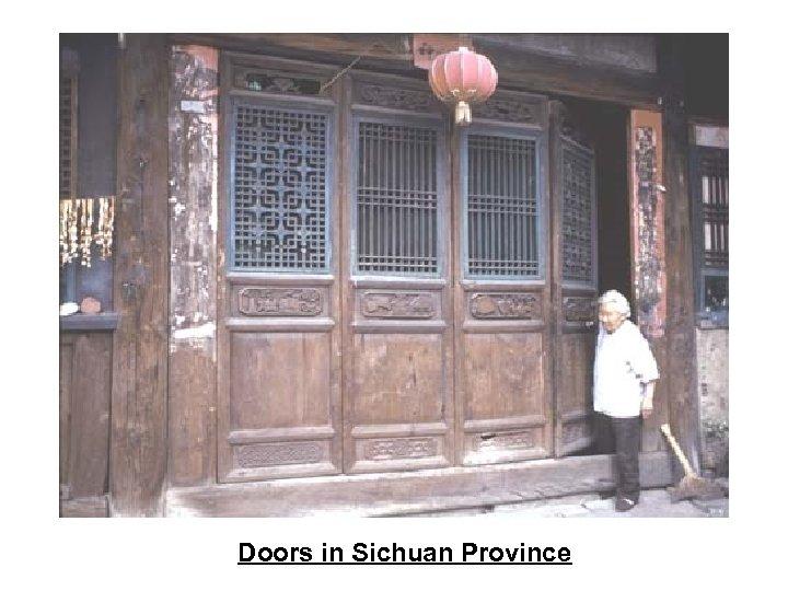 Doors in Sichuan Province