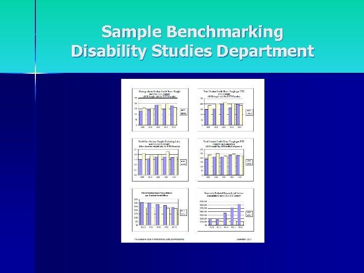 Sample Benchmarking Disability Studies Department