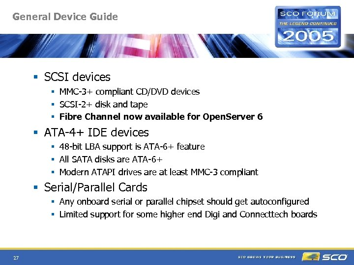 General Device Guide § SCSI devices § MMC-3+ compliant CD/DVD devices § SCSI-2+ disk