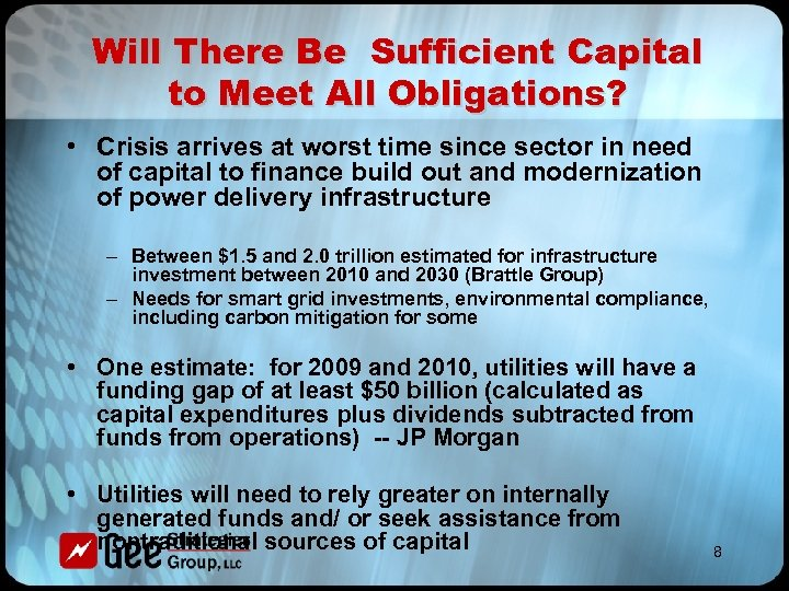 Will There Be Sufficient Capital to Meet All Obligations? • Crisis arrives at worst