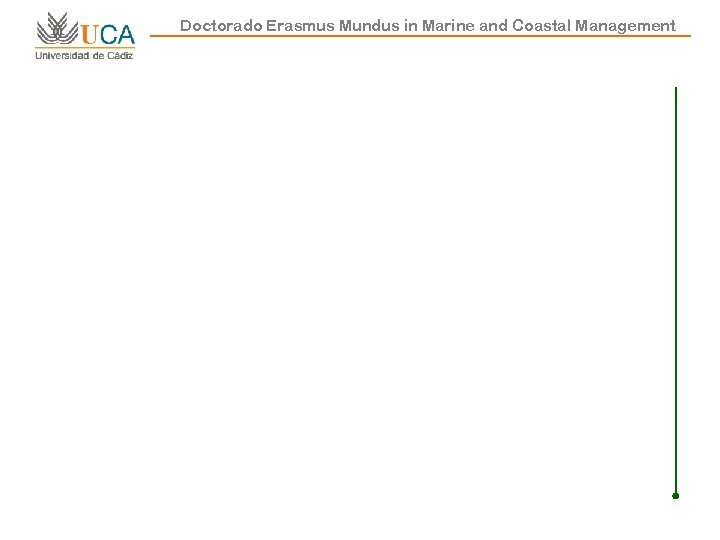 Doctorado Erasmus Mundus in Marine and Coastal Management