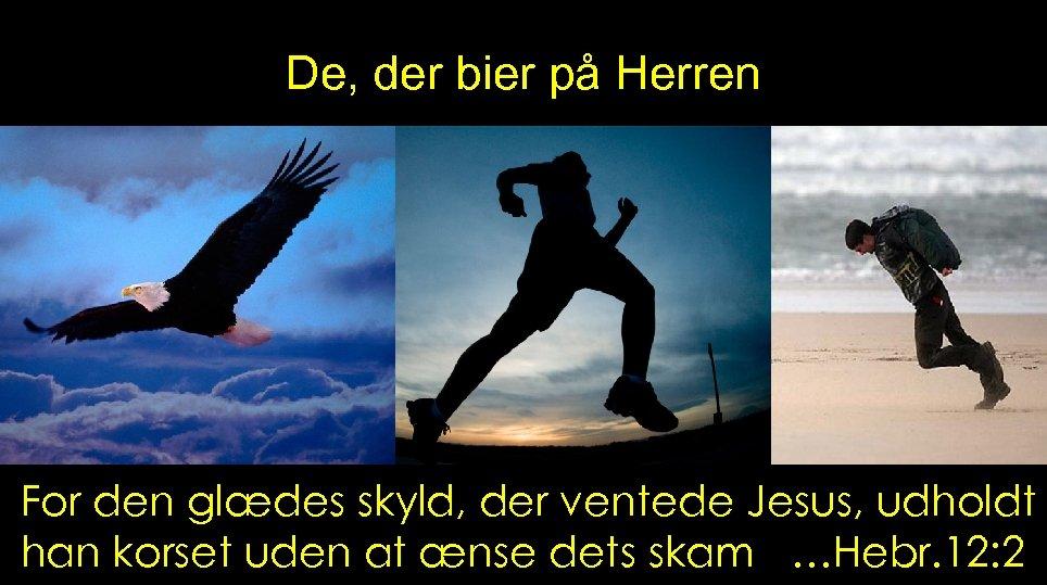 De, der bier på Herren For den glædes skyld, der ventede Jesus, udholdt han