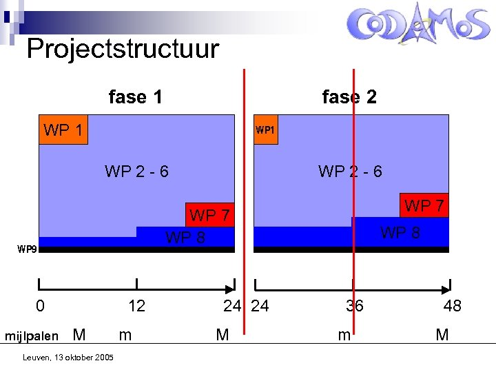 Projectstructuur fase 1 fase 2 WP 1 WP 2 - 6 WP 7 WP