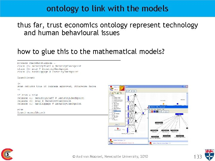 ontology to link with the models thus far, trust economics ontology represent technology and