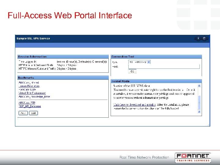 Full-Access Web Portal Interface