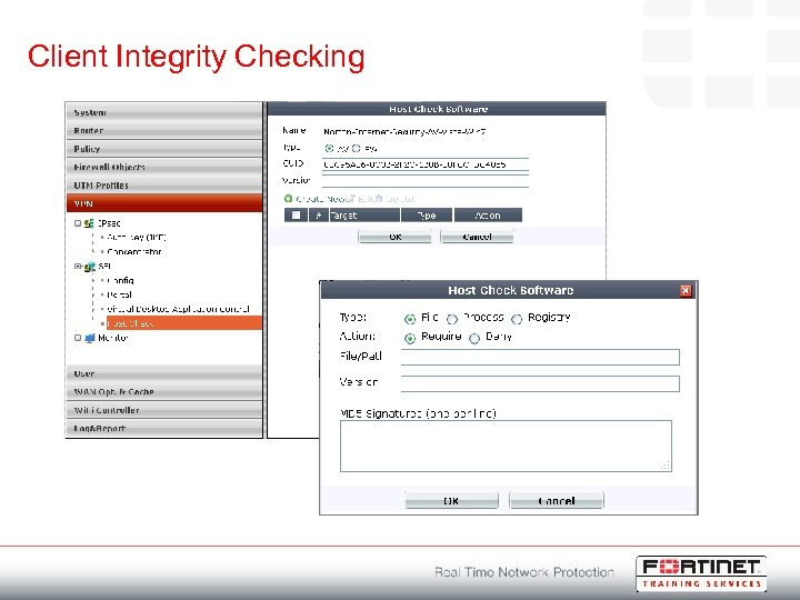 Client Integrity Checking